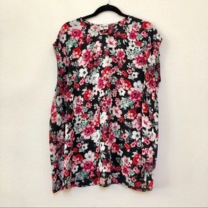 Show Me Your Mumu red & black floral tunic